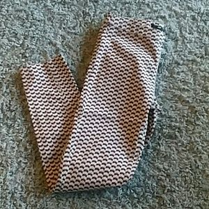 H&M patterned ankle pants